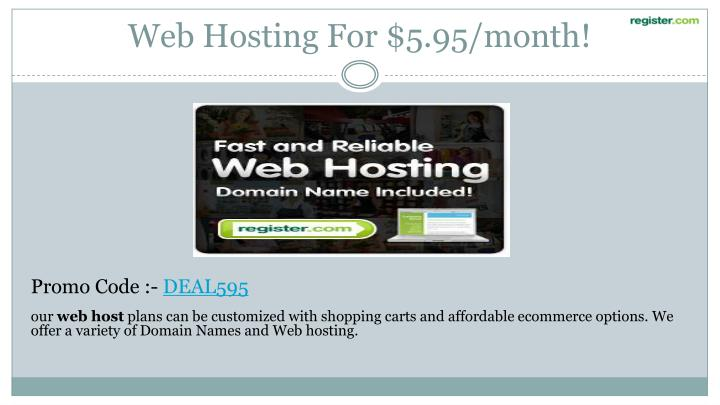 Web Hosting For $5.95/month!