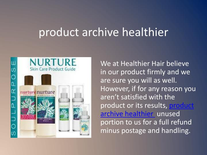 product archive healthier