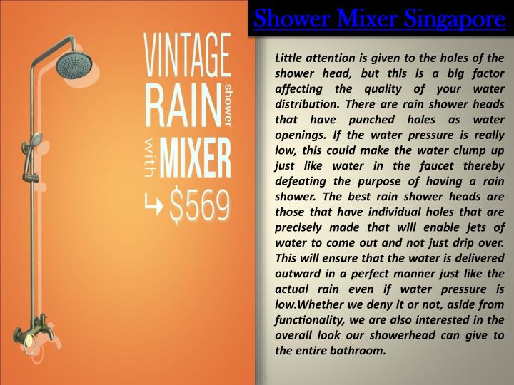 Shower Mixer Singapore