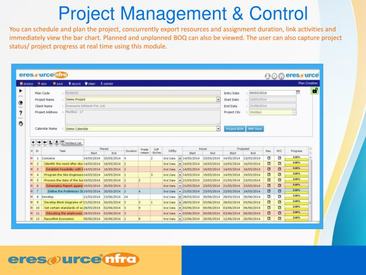 Project Management & Control
