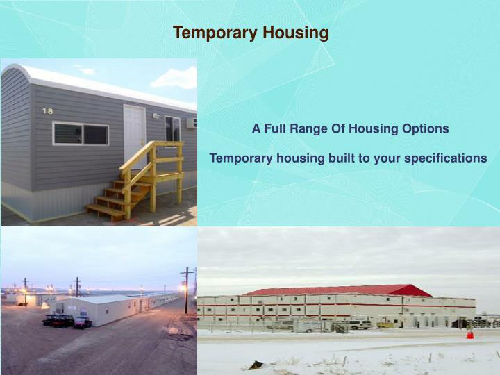 Temporary Housing