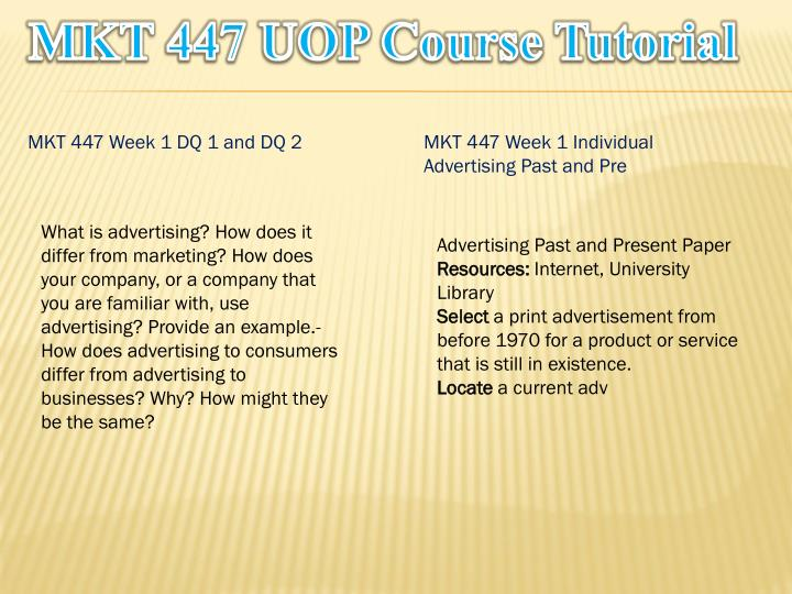 Mkt 447 uop course tutorial1