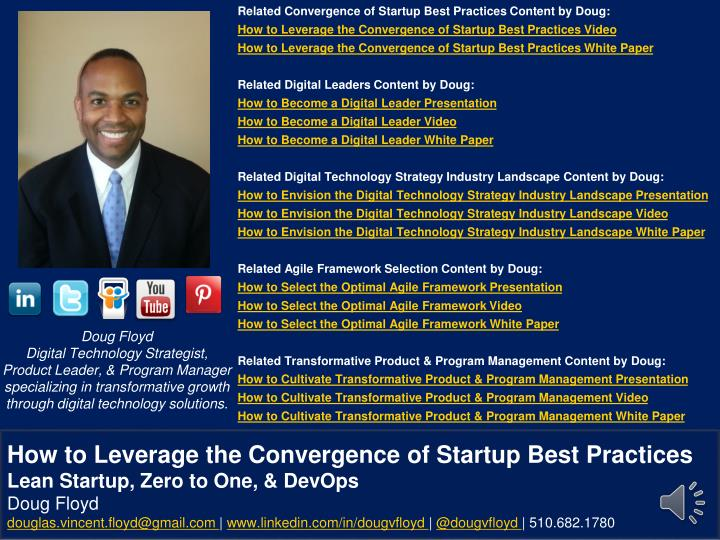 Related Convergence of Startup Best Practices