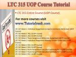 ltc 315 uop course tutorial