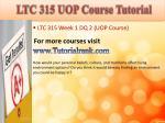 ltc 315 uop course tutorial2