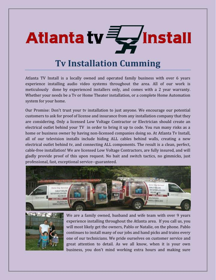 Tv Installation Cumming