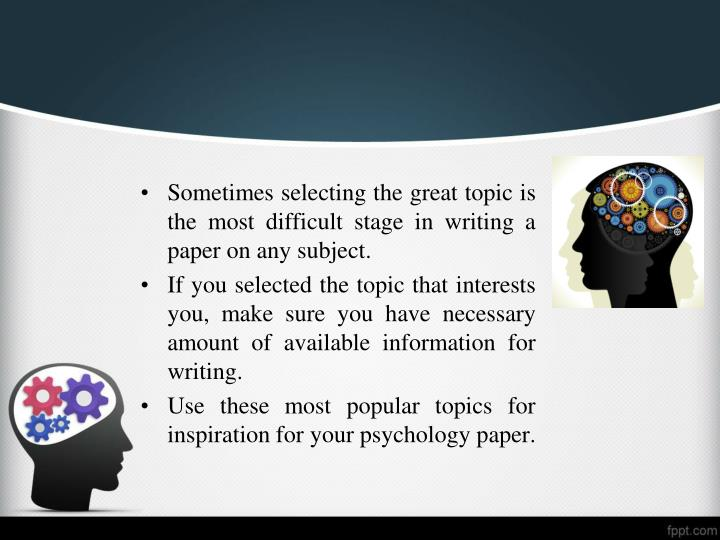 psych research paper on article Structure of a research paper while academic disciplines vary on the exact format and style of journal articles in their field, most articles contain similar content and are divided in parts that typically follow the same logical flow.