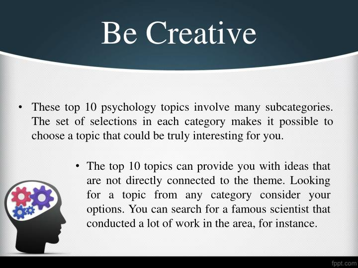creative research paper topics Research in creative writing research has been carried out which up to nine tend to choose topics based on derived.