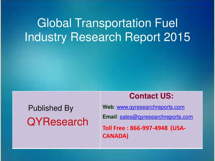 Global Transportation Fuel