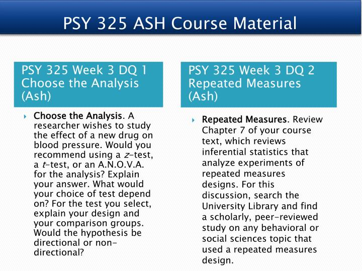 PSY 325 ASH Course Material