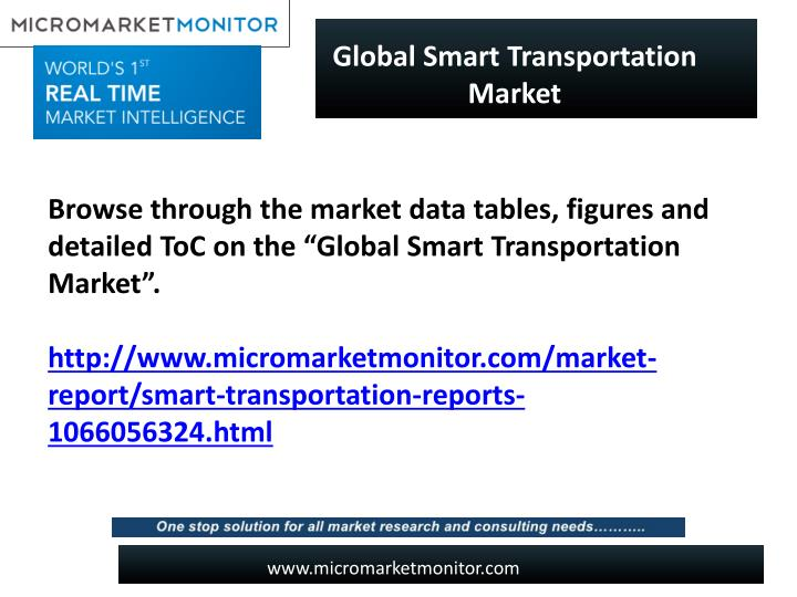 Global Smart Transportation Market