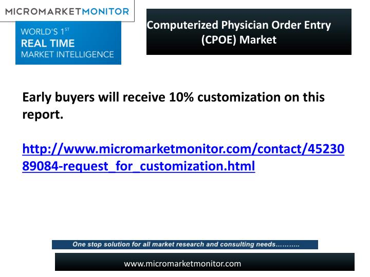 Computerized Physician Order Entry (CPOE) Market