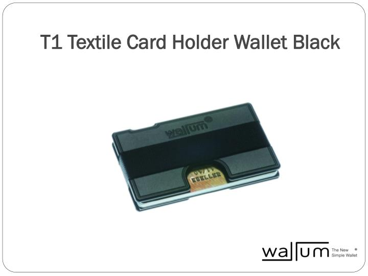 T1 textile card holder wallet black