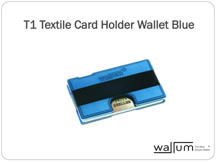 T1 Textile Card Holder Wallet