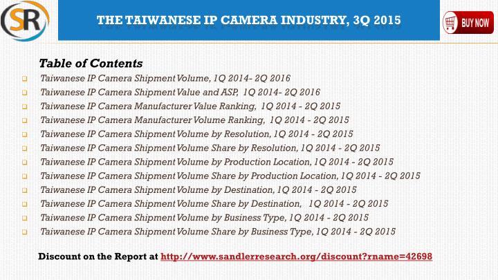 Taiwanese IP Camera Shipment Volume, 1Q 2014- 2Q 2016