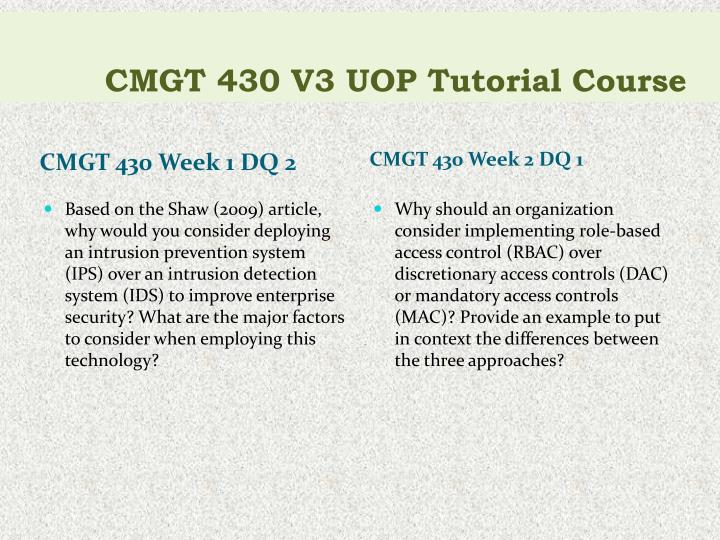 Cmgt 430 v3 uop tutorial course2