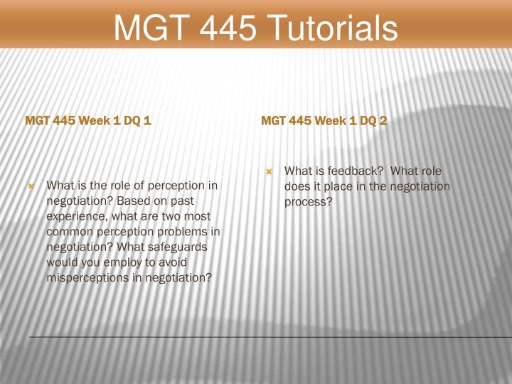 MGT 445 Week 1 DQ 1