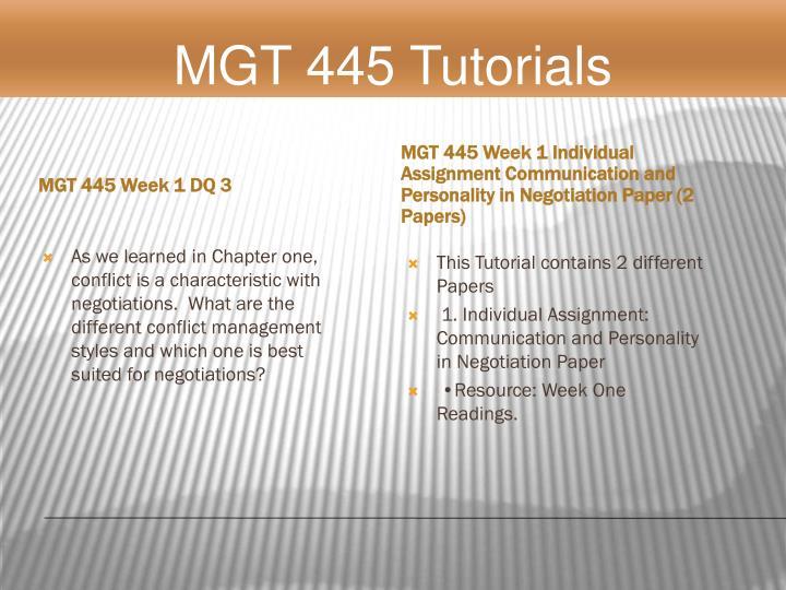 MGT 445 Week 1 DQ 3