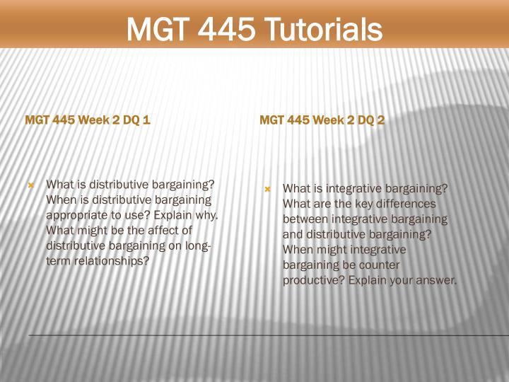 MGT 445 Week 2 DQ 1