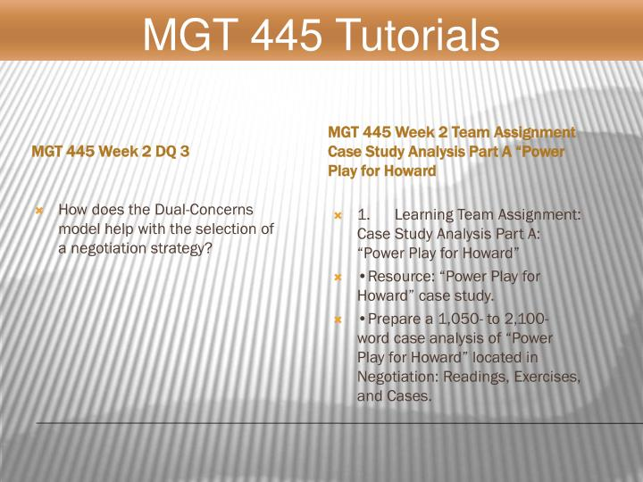 MGT 445 Week 2 DQ 3