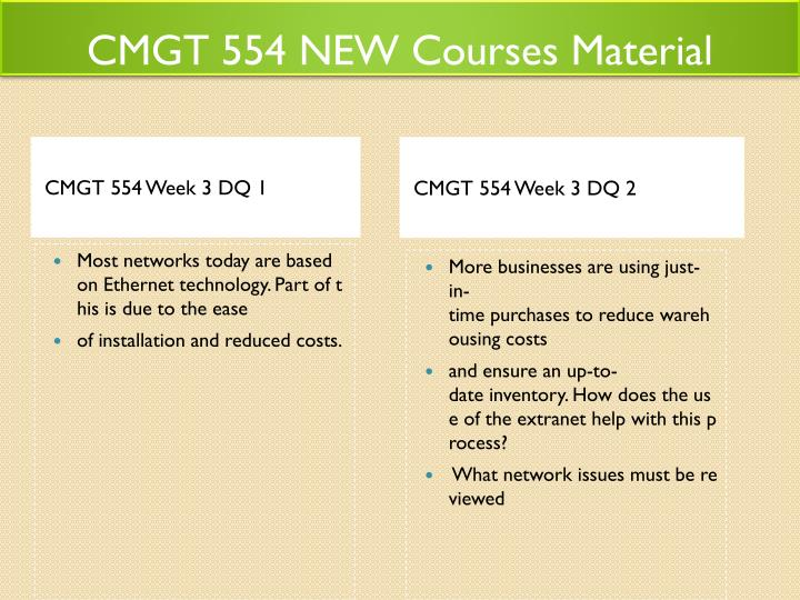 CMGT 554 NEW Courses