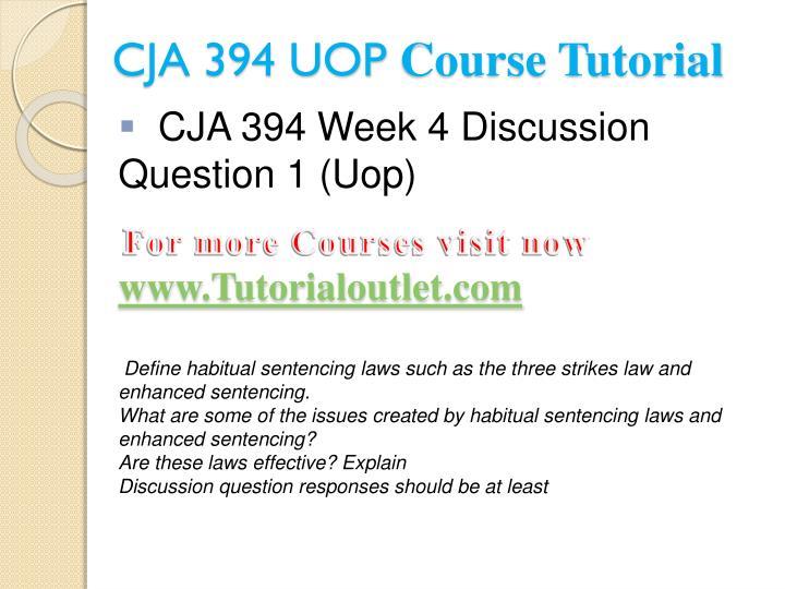 CJA 394 UOP
