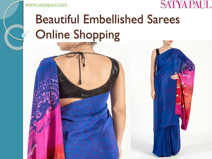 Beautiful embellished sarees online shopping