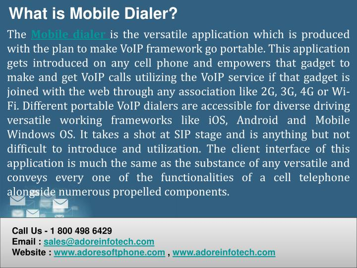 What is Mobile Dialer?