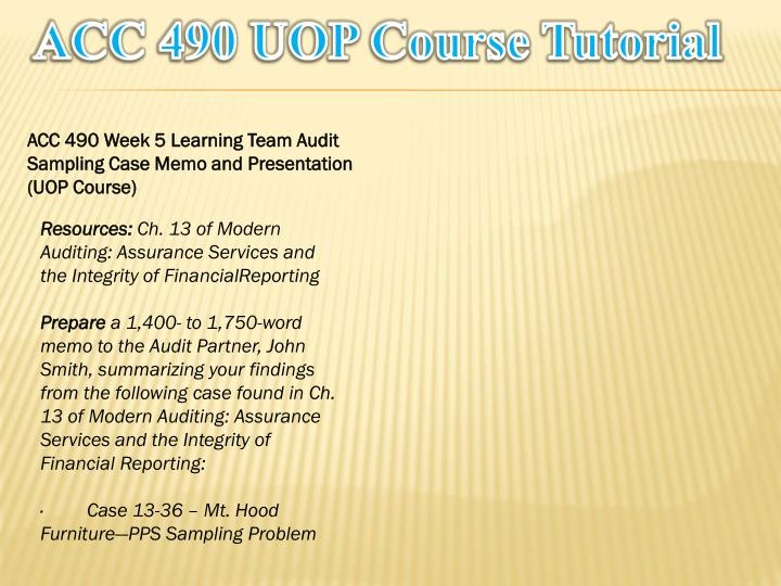 Acc 400 Week 2 Learning Team Assignments PowerPoint PPT Presentations