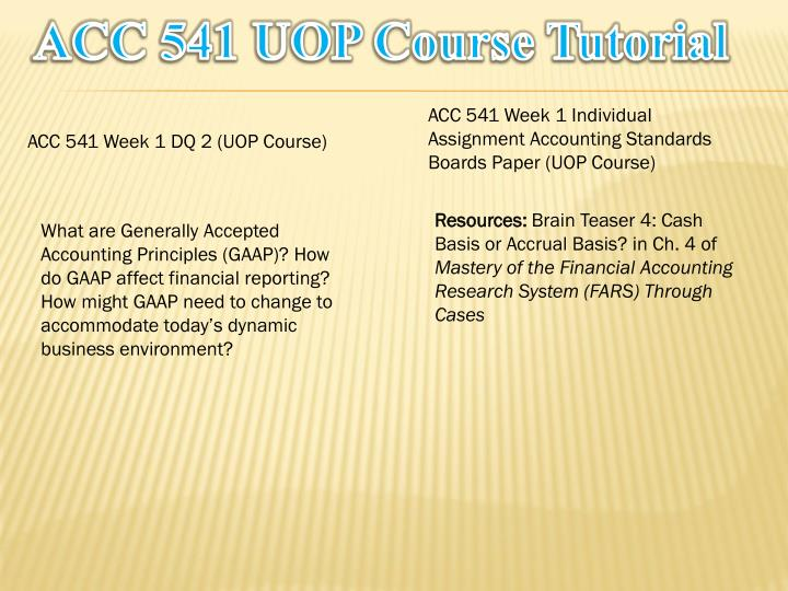 Acc 541 uop course tutorial1