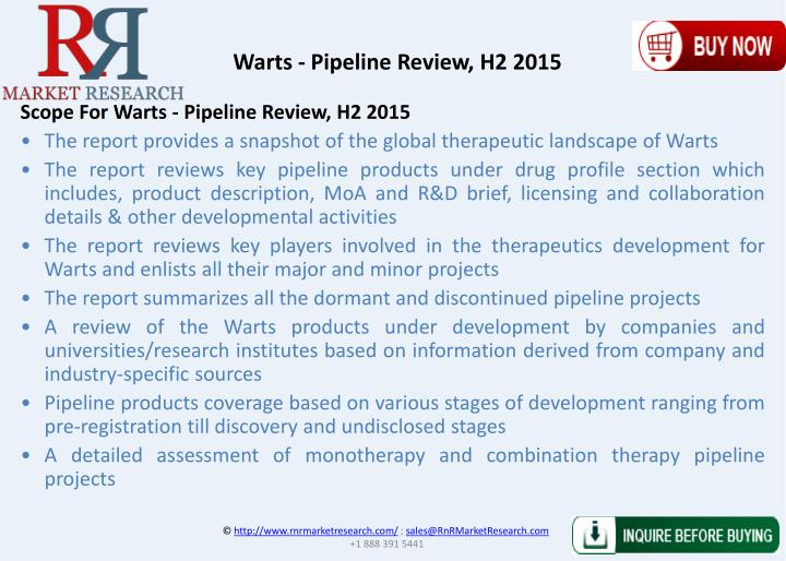 Warts - Pipeline Review, H2 2015