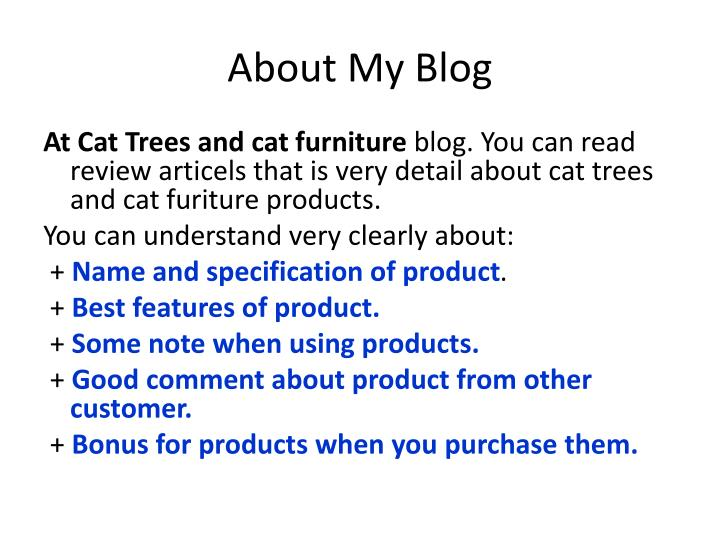 About my blog