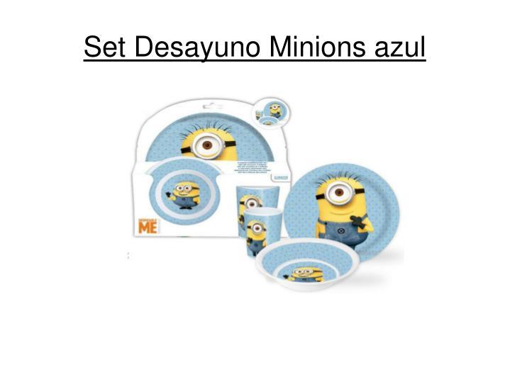 Set Desayuno Minions azul