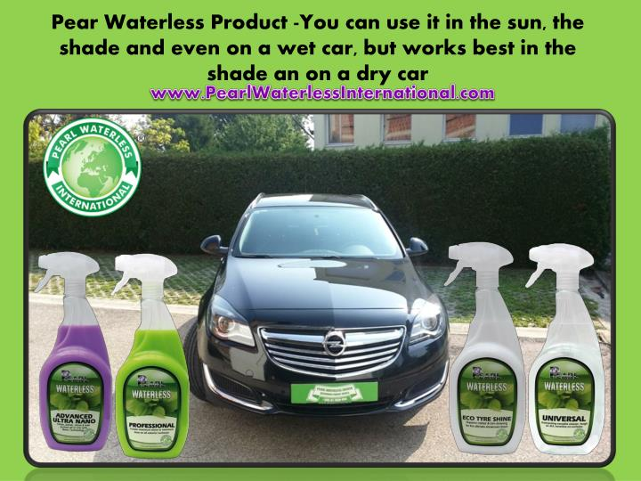 Pear Waterless Product -You