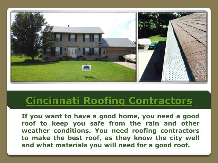 Cincinnati roofing contractors