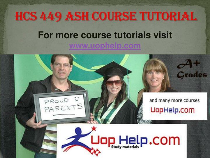 HCS 449 ASH