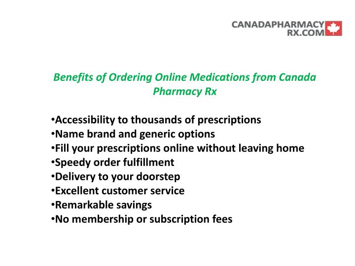 Benefits of Ordering Online Medications from Canada Pharmacy Rx