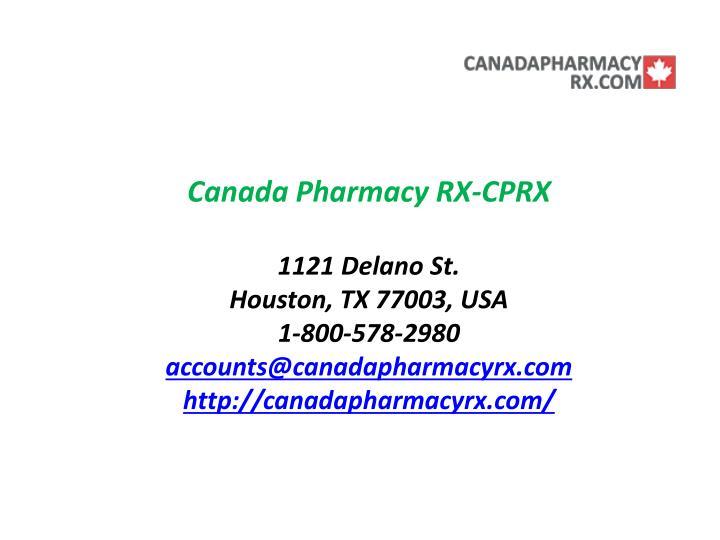 Canada Pharmacy RX-CPRX
