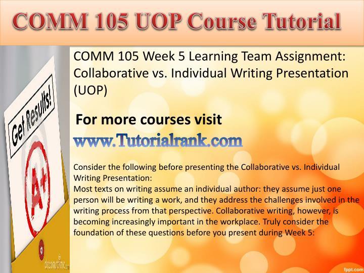COMM 105 UOP