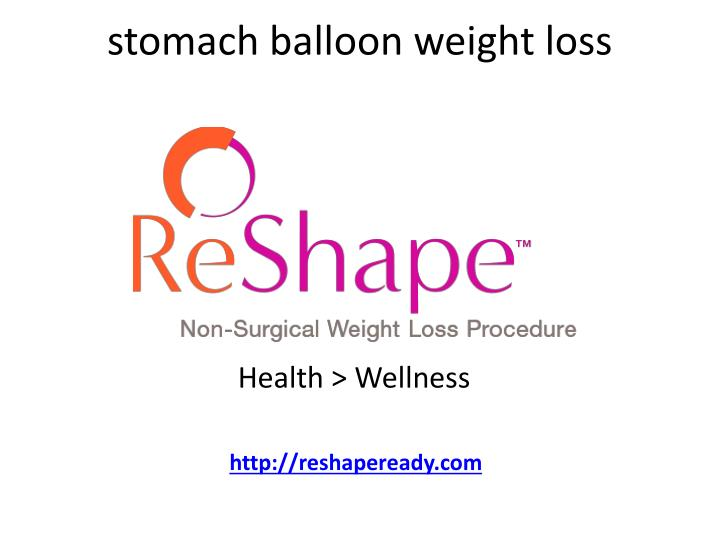 Stomach balloon weight loss
