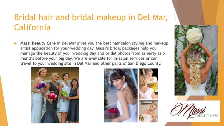 Bridal hair and bridal makeup in Del Mar, California