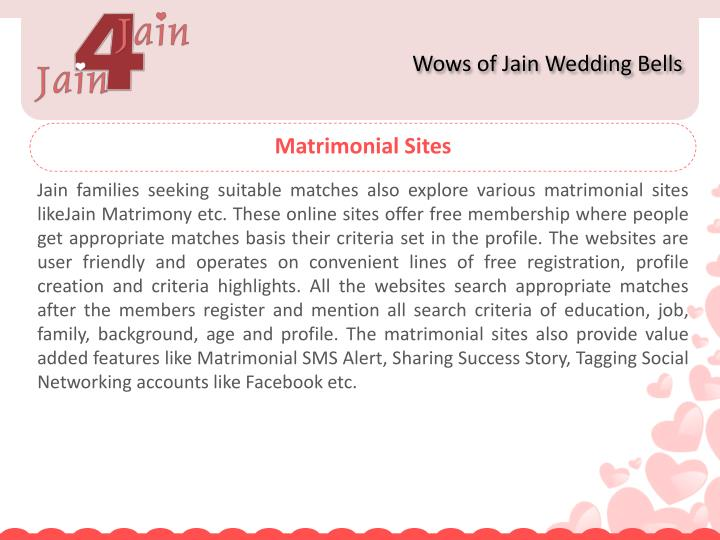 Wows of Jain Wedding Bells