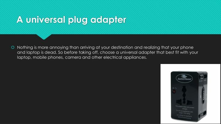 A universal plug adapter