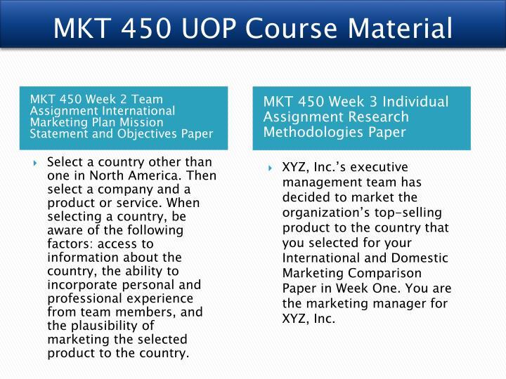 MKT 450 UOP