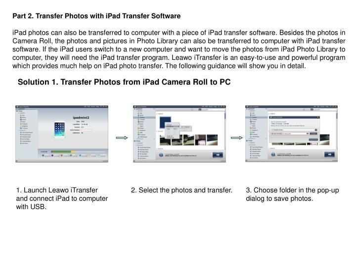 Part 2. Transfer Photos with iPad Transfer Software
