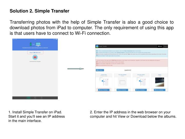 Solution 2. Simple Transfer