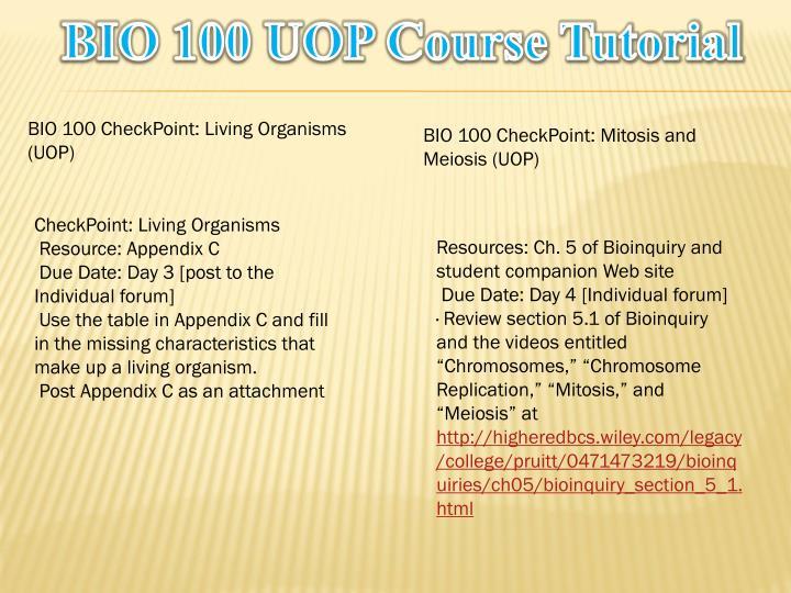 BIO 100 UOP Course Tutorial