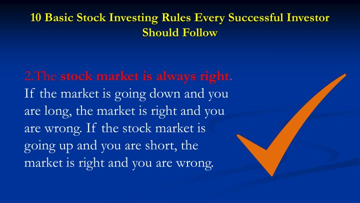 10 Basic Stock Investing Rules Every Successful Investor Should Follow