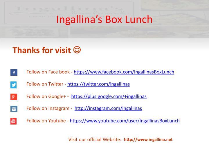 Ingallina's Box Lunch