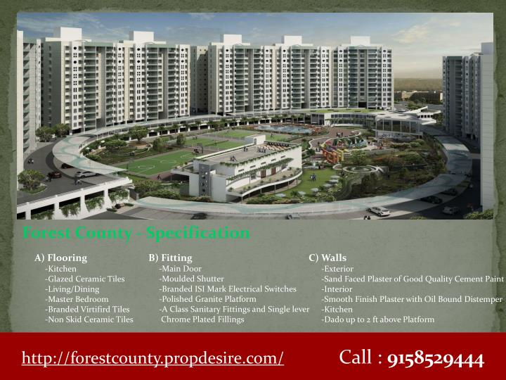 Forest County - Specification